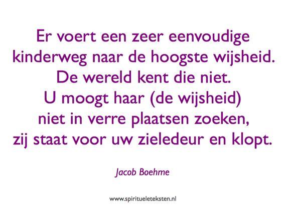 6 Jacob Boehme weg hoogste wijsheid citaat spirituele teksten spreuk