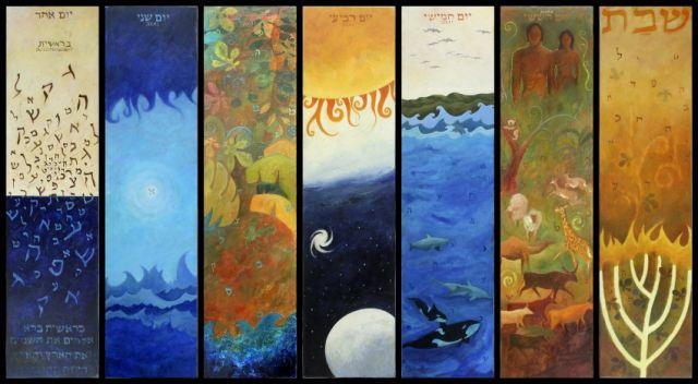 de zeven scheppingsdagen als beschrijving van het pad van