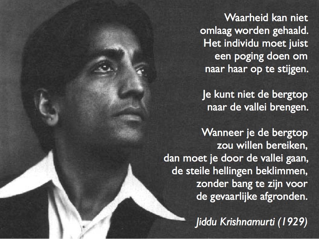 Citaat van J krishnamurti over waarheid.002