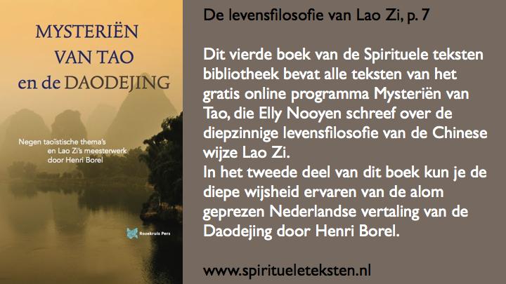 De levensfilosofie van Lao Zi.105