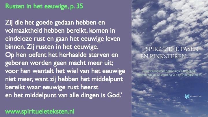 rusten in het eeuwige spirituele Pasen en Pinksteren.022